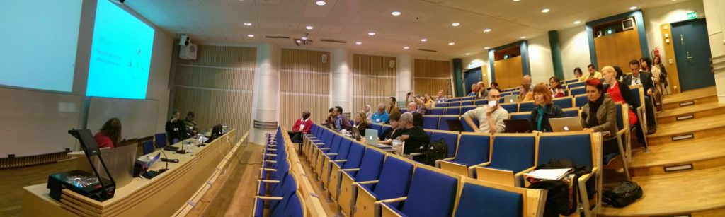 "Panorama picture of the symposium ""Design for Learning: Enhancing Participation in Learning through Design Thinking"""